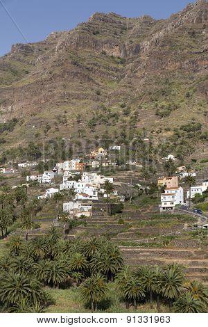 Typical landscape on Gomera island, Spain