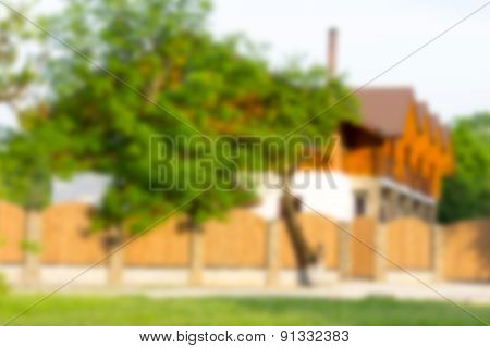 Blurred Image Of A Cottage