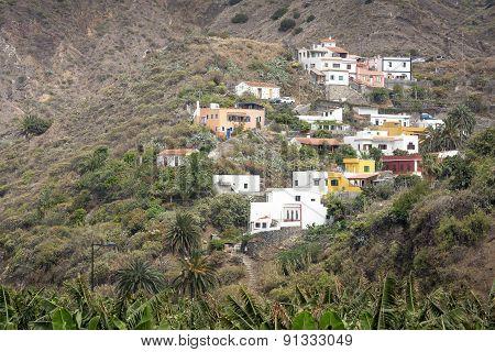 Typical small village on Gomera island, Spain