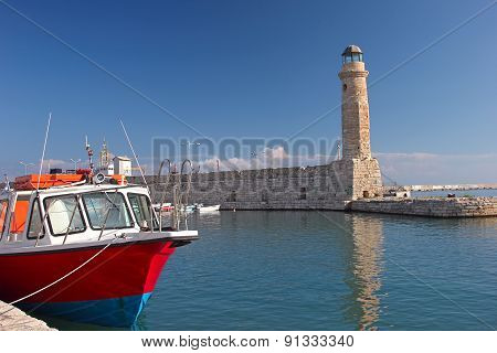 Lighthouse and a boat