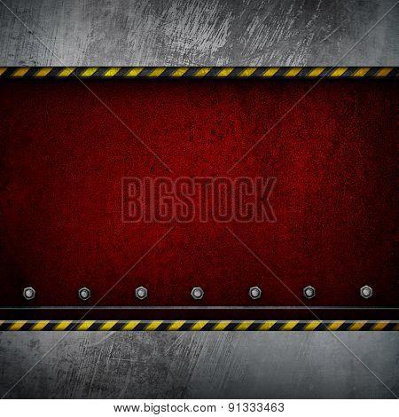rusty metal template