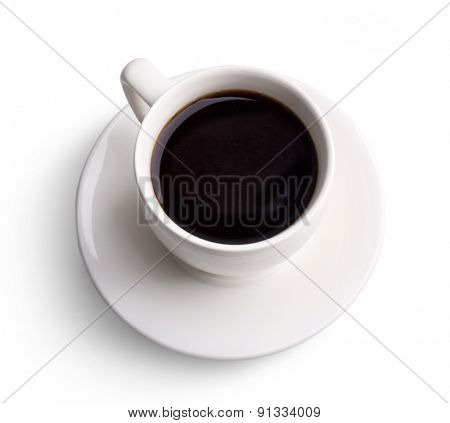 Cup of coffee isolated on white