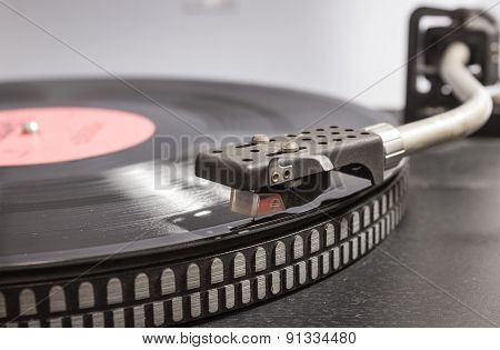Vinyl On The Record Player