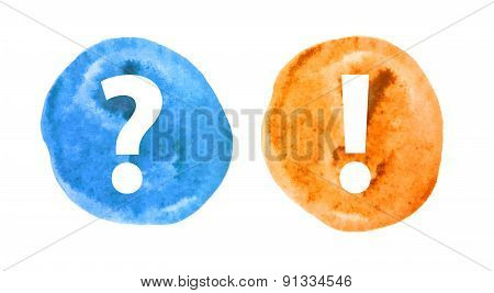 Question and Exclamation Mark Set Vector Illustration