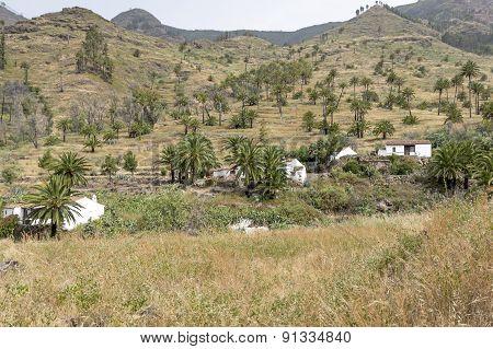 Small settlement on Gomera island, Spain