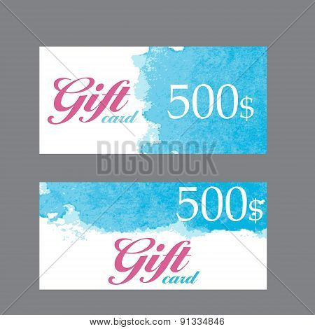 Business Card Templates with Abstract Background