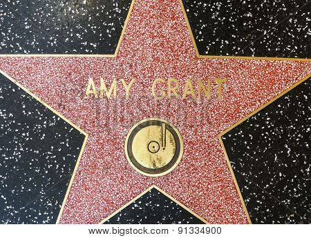 Amy Grants Star On Hollywood Walk Of Fame