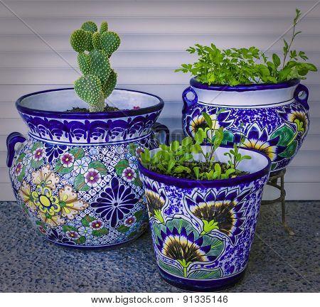 Mexican Talavera Planters