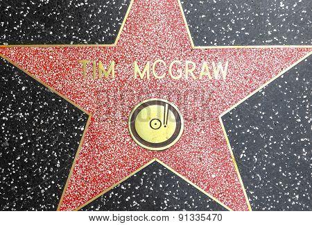 Tim Mcgraws Star On Hollywood Walk Of Fame