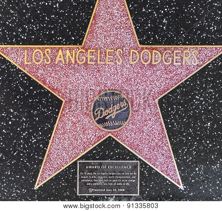 Los Angeles Dodgers Star On Hollywood Walk Of Fame