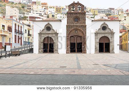 Church in San Sebastian town on Gomera island, Spain