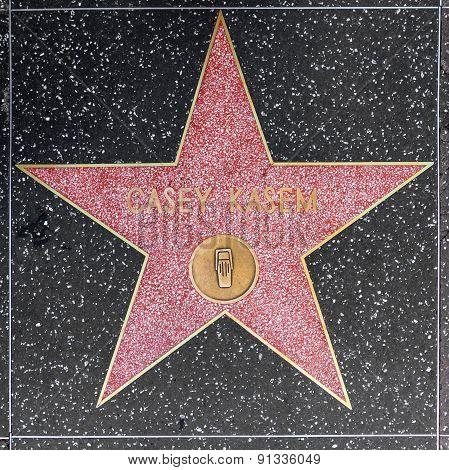 Casey Kasems Star On Hollywood Walk Of Fame