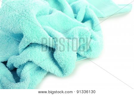 Terry towel isolated on white