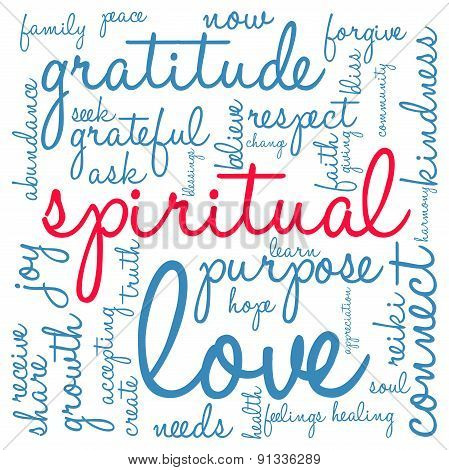 Spiritual Word Cloud