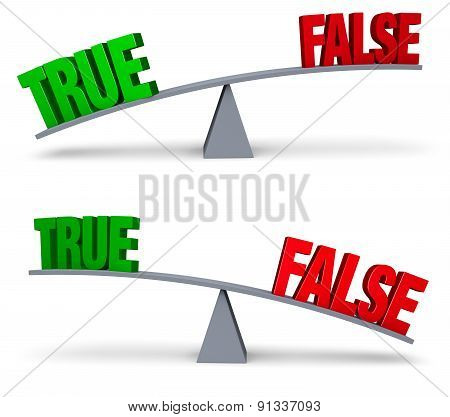 Weighing True Or False Set