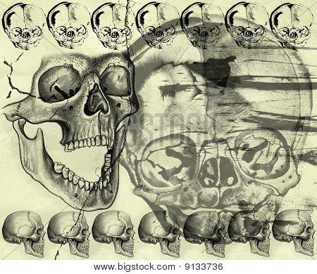 Halloween Background In Grunge Style