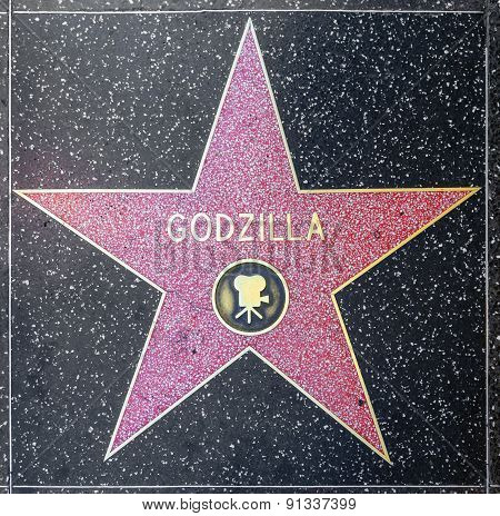 Godzillas Star On Hollywood Walk Of Fame