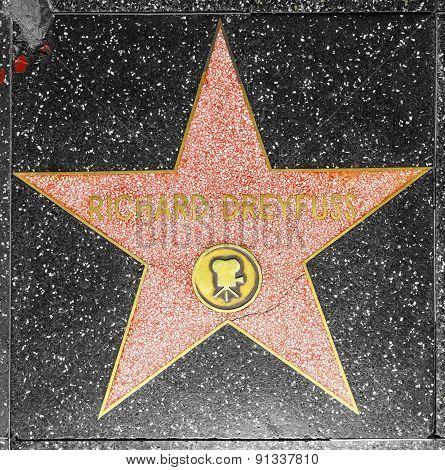Richard Dreyfuss Star On Hollywood Walk Of Fame