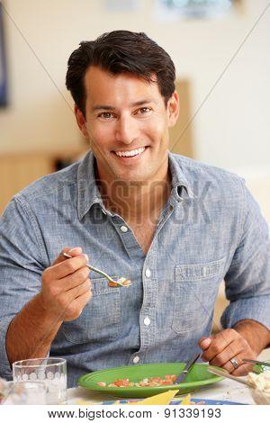 Man eating meal
