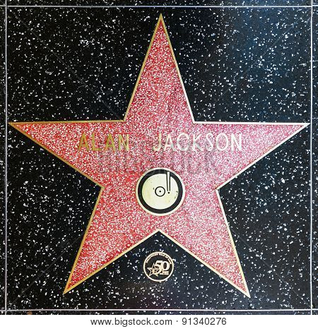 Alan Jacksons Star On Hollywood Walk Of Fame