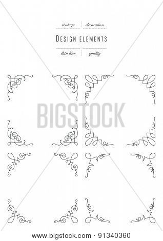 Monogram emblem template. Luxury elegant frame ornament line logo design vector illustration
