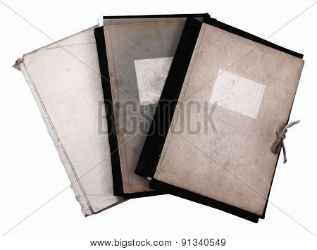 stack of old folders, vector