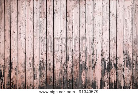 painted old wooden wall. pink background, vector