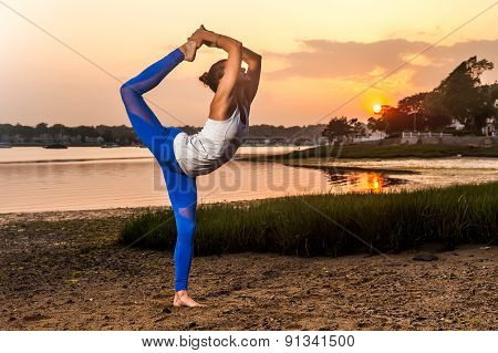 Female Yoga Dancer Pose Beach