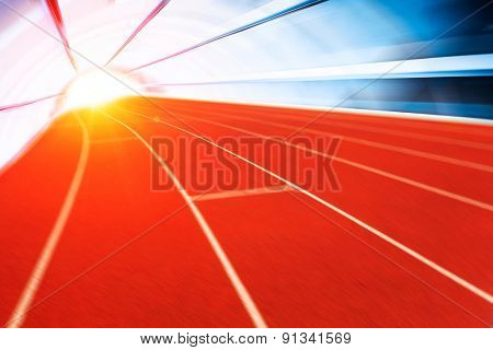 Running track with competition concept