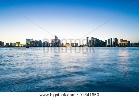 River and skyline of Hangzhou