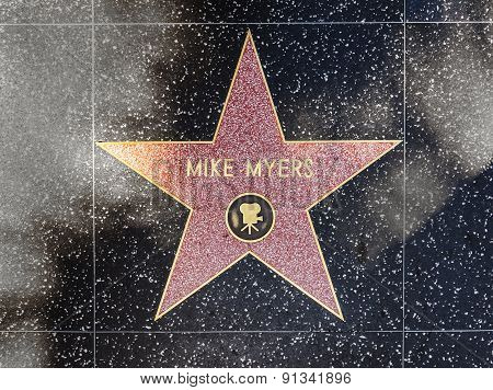 Mike Myers Star On Hollywood Walk Of Fame
