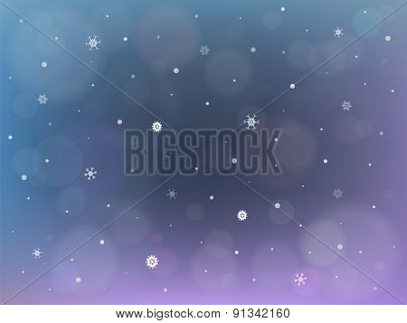 Christmas And New Year Winter Background