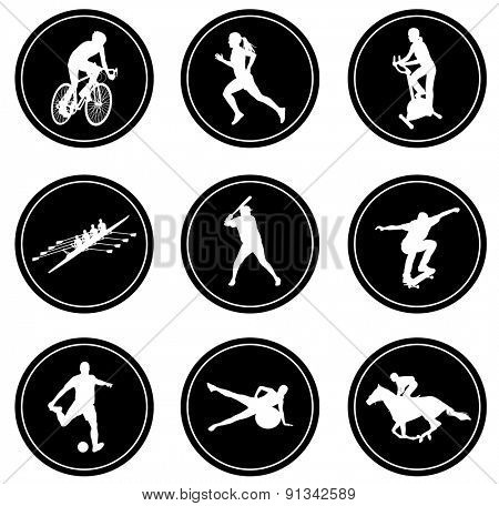 simple sport icons set