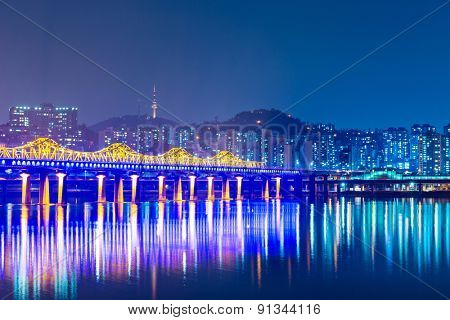 Seoul city in South Korea