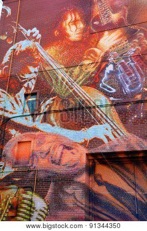 Street art blues music