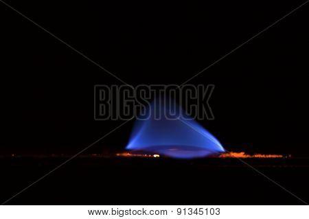 Burning Sulfur