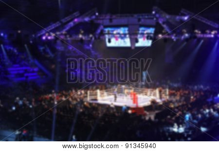 Blurred Boxing Fight. Abstract Background With Bokeh
