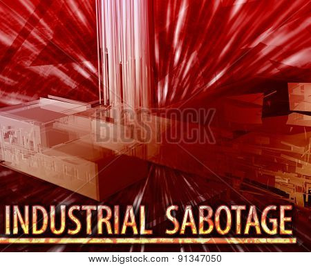 Abstract background digital collage concept illustration industrial sabotage property damage