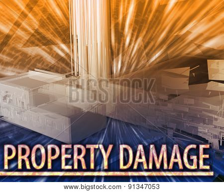 Abstract background digital collage concept illustration property damage destruction