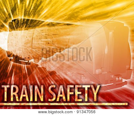 Abstract background digital collage concept illustration train safety rail
