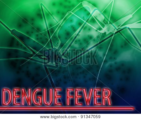 Abstract background digital collage concept illustration dengue fever mosquito disease