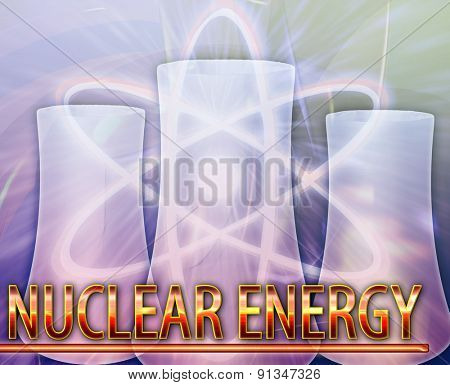 Abstract background digital collage concept illustration nuclear energy reactor