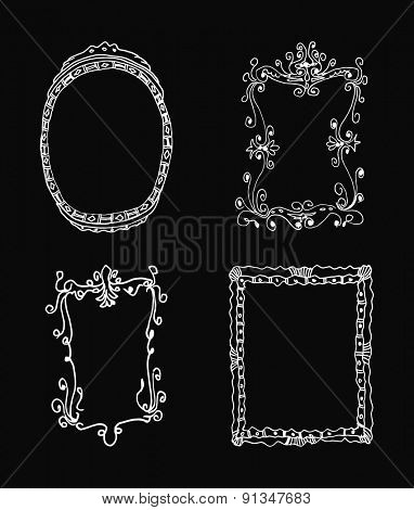 hand drawn frames vector illustration