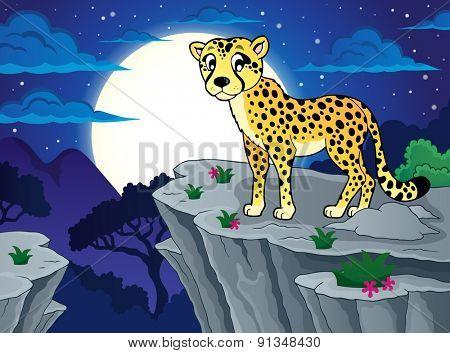 Cheetah theme image 2 - eps10 vector illustration.