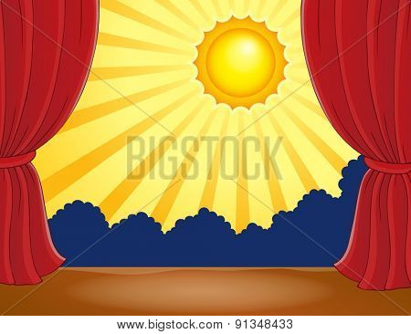Stage with abstract sun 2 - eps10 vector illustration.