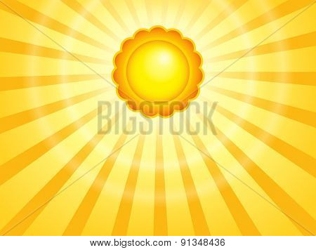 Abstract sun theme image 7 - eps10 vector illustration.