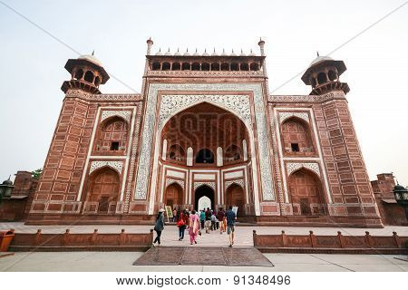 Front Gate Of The Taj Mahal