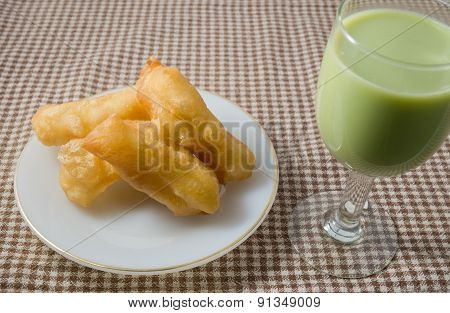 Delicious Deep Fried Doughstick With Soybean Milk