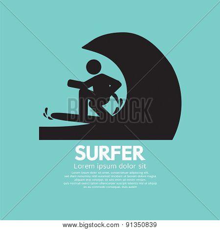 Black Symbol Surfer.