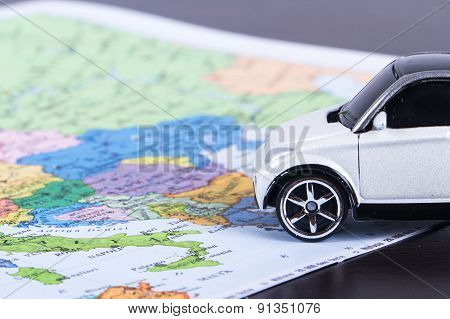 Toy Car For Travel Concept